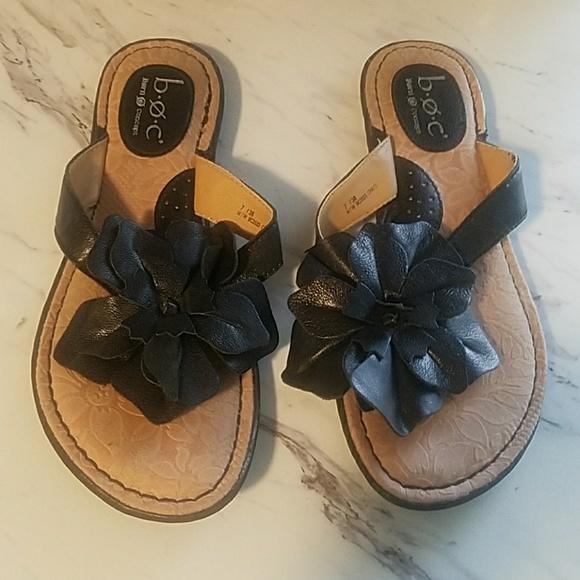 ec317a51546a6 b.o.c. Shoes - New b.o.c. Black Flower Sandals
